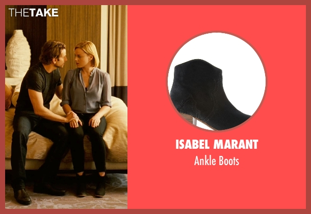 Isabel Marant black boots from Limitless seen with Abbie Cornish (Lindy)