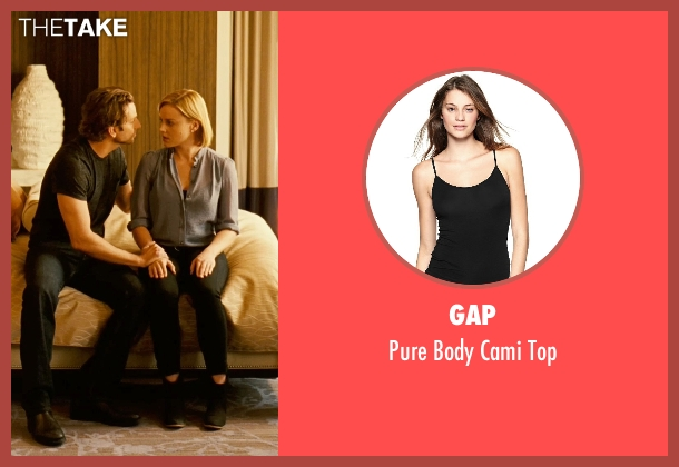 Gap black top from Limitless seen with Abbie Cornish (Lindy)