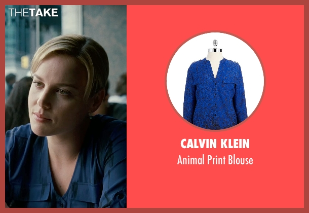Calvin Klein blue blouse from Limitless seen with Abbie Cornish (Lindy)