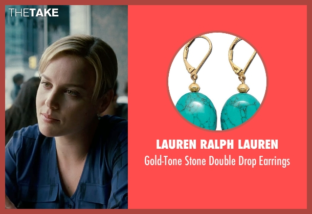 Lauren Ralph Lauren blue earrings from Limitless seen with Abbie Cornish (Lindy)