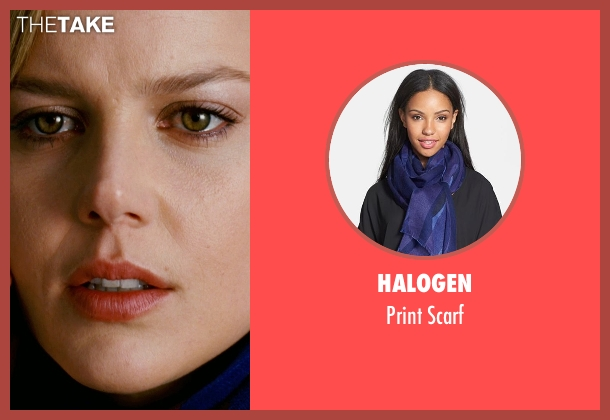 Halogen blue scarf from Limitless seen with Abbie Cornish (Lindy)