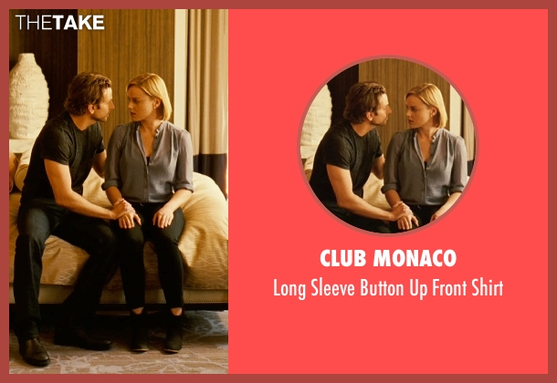 Club Monaco blue shirt from Limitless seen with Abbie Cornish (Lindy)