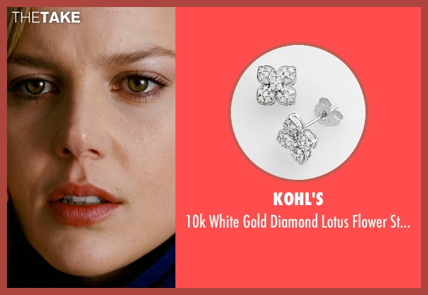 Kohl's white earrings from Limitless seen with Abbie Cornish (Lindy)