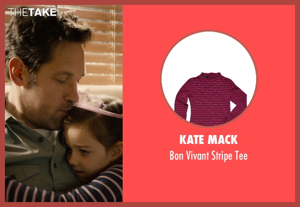Kate Mack pink tee from Ant-Man seen with Abby Ryder Fortson (Cassie Lang)