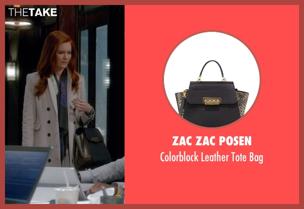 Zac Zac Posen black bag from Scandal seen with Abby Whelan (Darby Stanchfield)