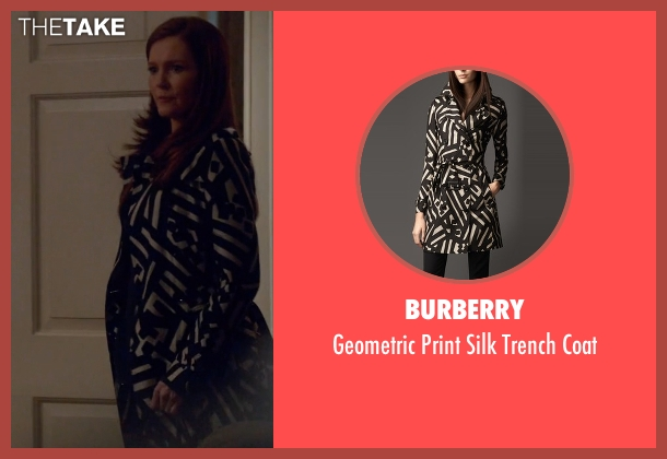 Burberry black coat from Scandal seen with Abby Whelan (Darby Stanchfield)