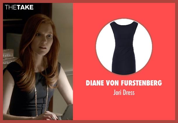 Diane von Furstenberg black dress from Scandal seen with Abby Whelan (Darby Stanchfield)