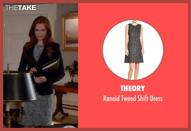 Theory black dress from Scandal seen with Abby Whelan (Darby Stanchfield)