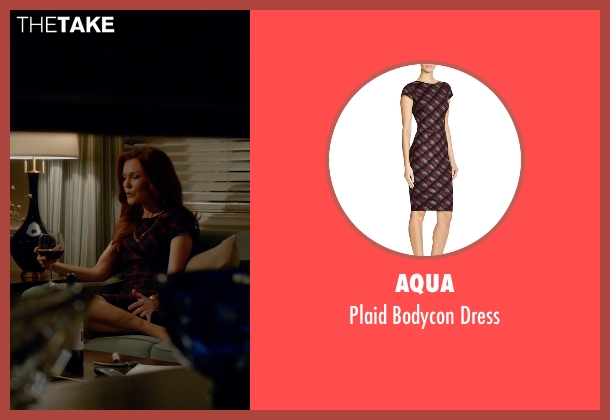 Aqua black dress from Scandal seen with Abby Whelan (Darby Stanchfield)