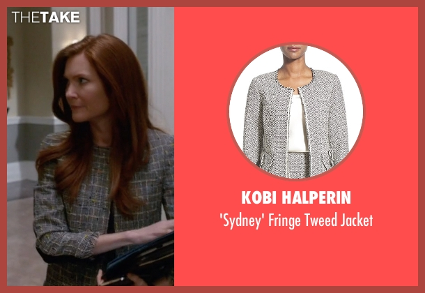 Kobi Halperin black jacket from Scandal seen with Abby Whelan (Darby Stanchfield)