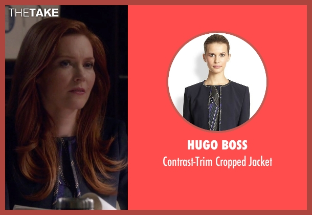 Hugo Boss black jacket from Scandal seen with Abby Whelan (Darby Stanchfield)