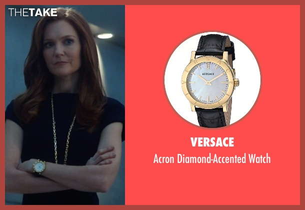 Versace black watch from Scandal seen with Abby Whelan (Darby Stanchfield)