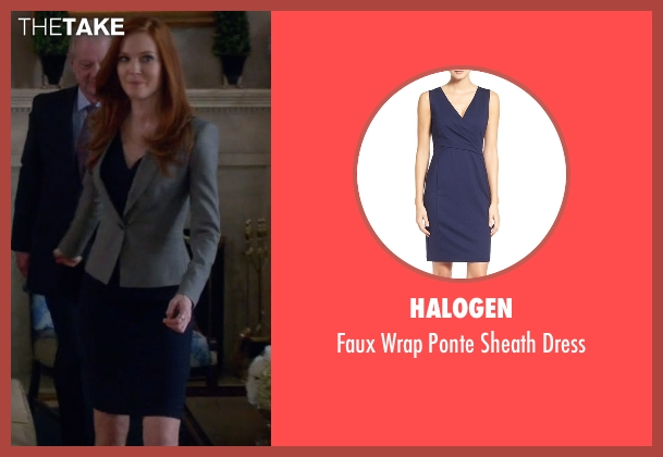 Halogen blue dress from Scandal seen with Abby Whelan (Darby Stanchfield)