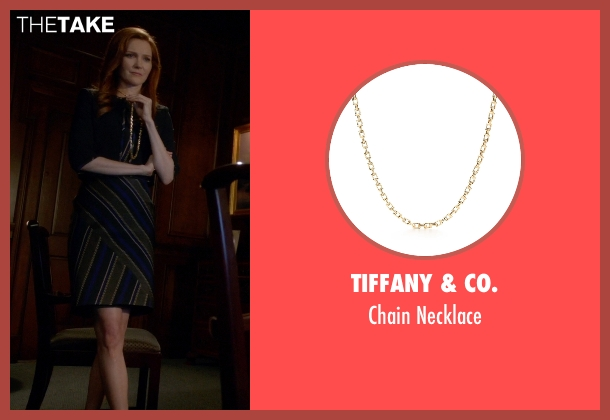 Tiffany & Co. gold necklace from Scandal seen with Abby Whelan (Darby Stanchfield)