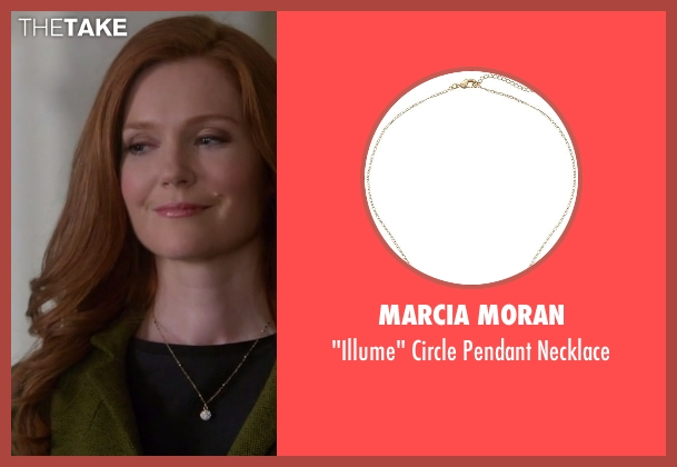 Marcia Moran gold necklace from Scandal seen with Abby Whelan (Darby Stanchfield)