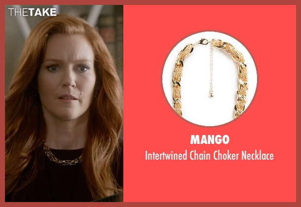 Mango gold necklace from Scandal seen with Abby Whelan (Darby Stanchfield)