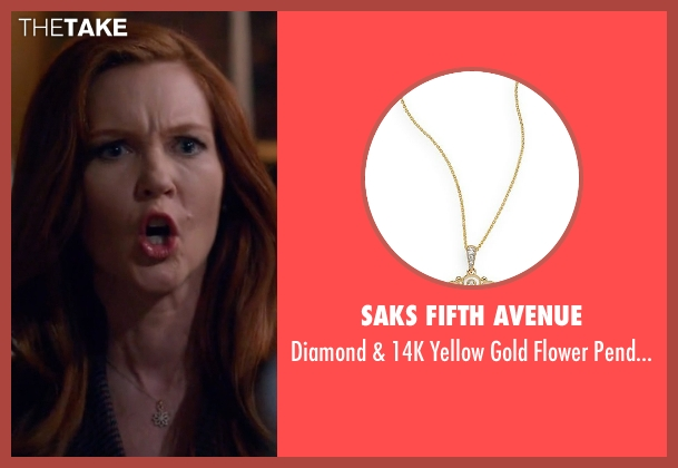 Saks Fifth Avenue gold necklace from Scandal seen with Abby Whelan (Darby Stanchfield)