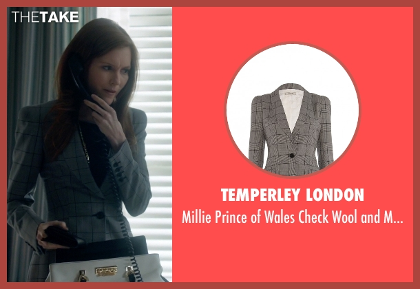 Temperley London gray blazer from Scandal seen with Abby Whelan (Darby Stanchfield)