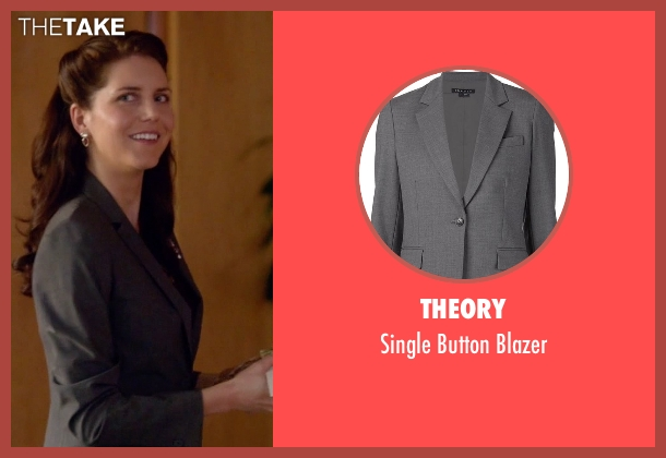 Theory gray blazer from Scandal seen with Abby Whelan (Darby Stanchfield)
