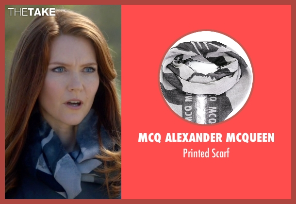 MCQ Alexander McQueen gray scarf from Scandal seen with Abby Whelan (Darby Stanchfield)