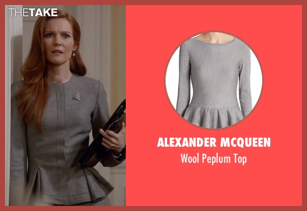 Alexander Mcqueen gray top from Scandal seen with Abby Whelan (Darby Stanchfield)