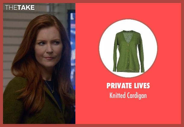 Private Lives green cardigan from Scandal seen with Abby Whelan (Darby Stanchfield)