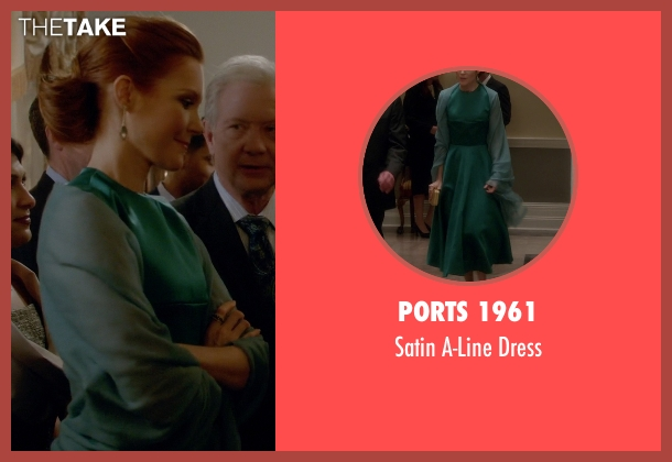 Ports 1961 green dress from Scandal seen with Abby Whelan (Darby Stanchfield)