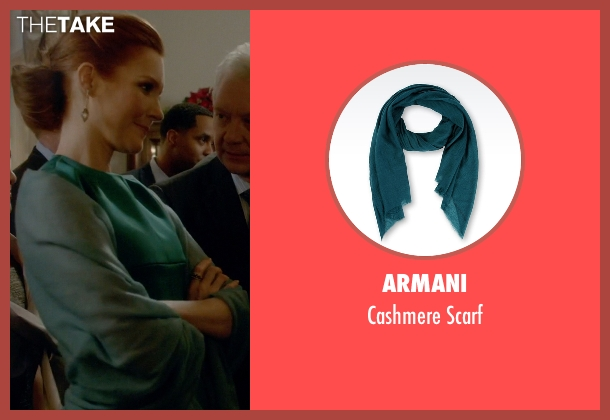 Armani green scarf from Scandal seen with Abby Whelan (Darby Stanchfield)