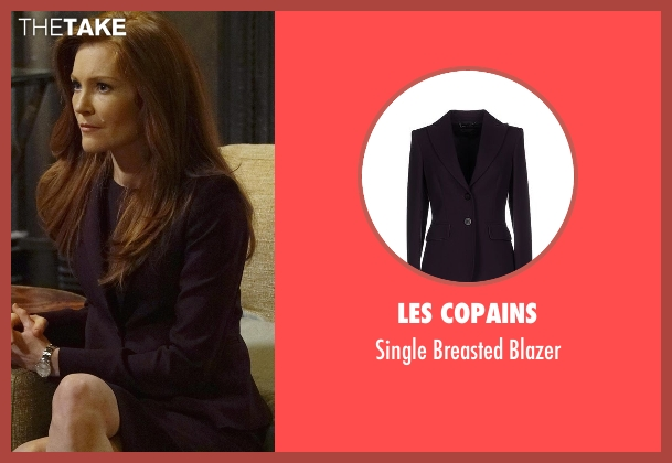 Les Copains purple blazer from Scandal seen with Abby Whelan (Darby Stanchfield)