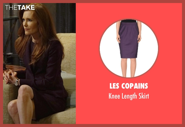 Les Copains purple skirt from Scandal seen with Abby Whelan (Darby Stanchfield)