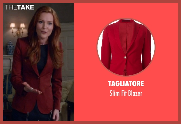 Tagliatore red blazer from Scandal seen with Abby Whelan (Darby Stanchfield)