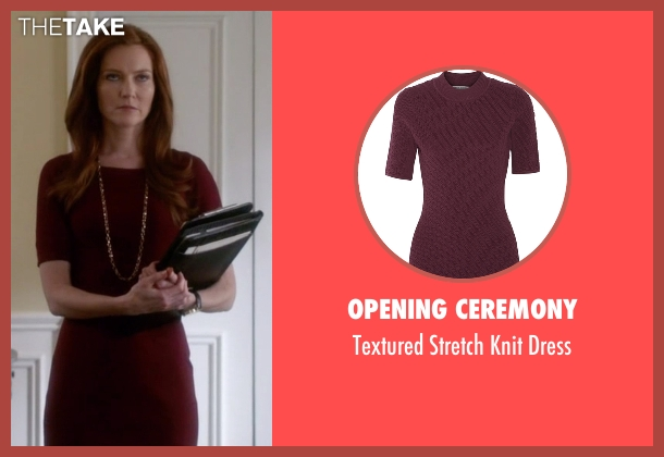 Opening Ceremony red dress from Scandal seen with Abby Whelan (Darby Stanchfield)