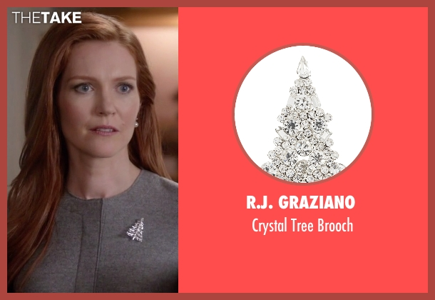 R.J. Graziano silver brooch from Scandal seen with Abby Whelan (Darby Stanchfield)