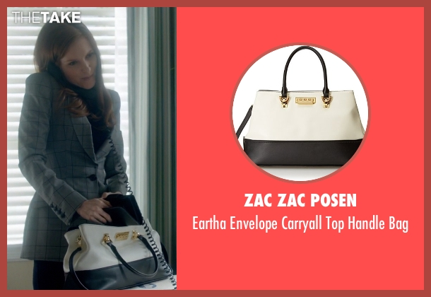 Zac Zac Posen white bag from Scandal seen with Abby Whelan (Darby Stanchfield)