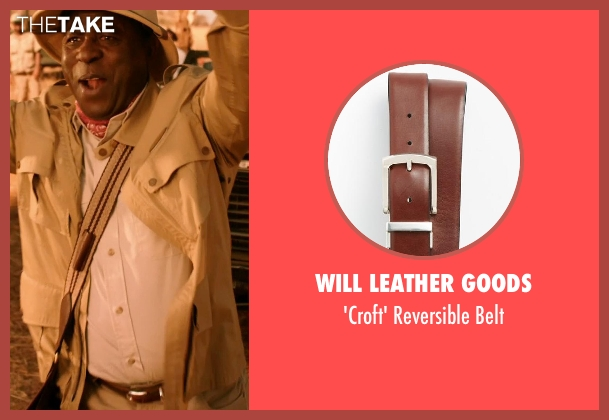Will Leather Goods brown belt from Blended seen with Abdoulaye NGom (Mfana)