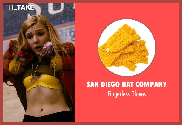 San Diego Hat Company yellow gloves from New Year's Eve seen with Abigail Breslin (Hailey)