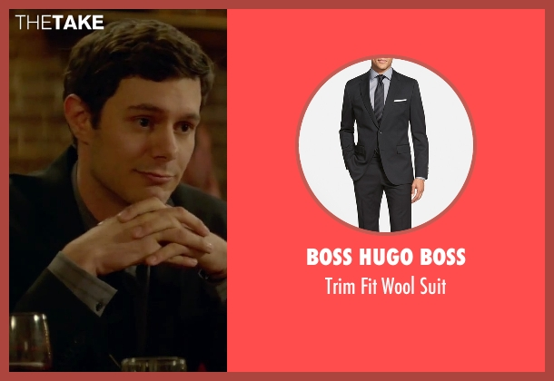Boss Hugo Boss black suit from Sleeping with Other People seen with Adam Brody (Unknown Character)