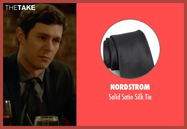 Nordstrom black tie from Sleeping with Other People seen with Adam Brody (Unknown Character)