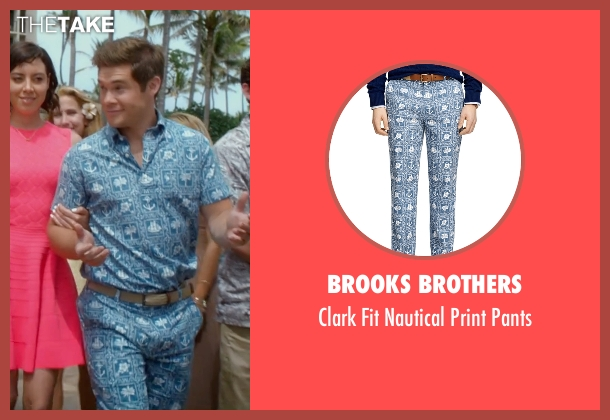 Brooks Brothers blue pants from Mike and Dave Need Wedding Dates seen with Adam DeVine (Mike Stangle)