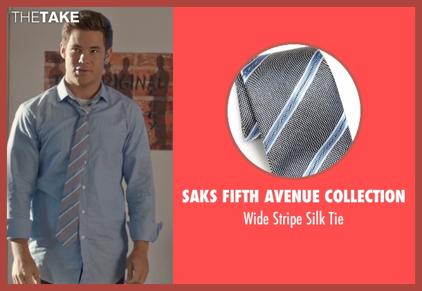 Saks Fifth Avenue Collection gray tie from Mike and Dave Need Wedding Dates seen with Adam DeVine (Mike Stangle)