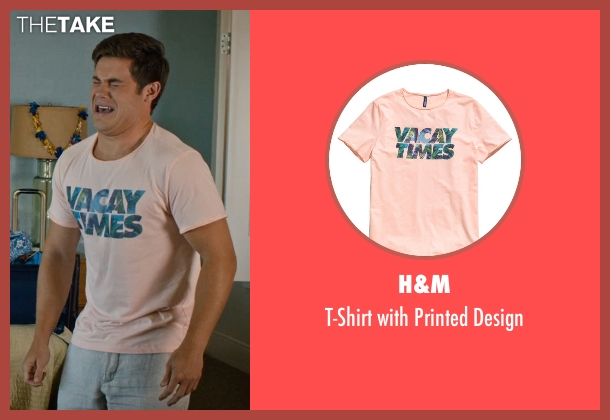 H&M pink design from Mike and Dave Need Wedding Dates seen with Adam DeVine (Mike Stangle)
