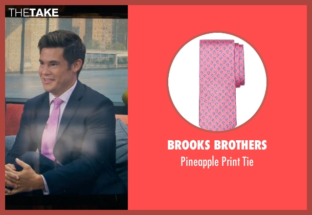 Brooks Brothers pink tie from Mike and Dave Need Wedding Dates seen with Adam DeVine (Mike Stangle)