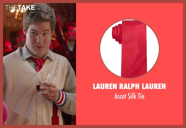 Lauren Ralph Lauren red tie from Pitch Perfect 2 seen with Adam DeVine (Bumper Allen)