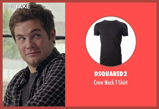 Dsquared2 black t-shirt from The Intern seen with Adam DeVine (Jason)