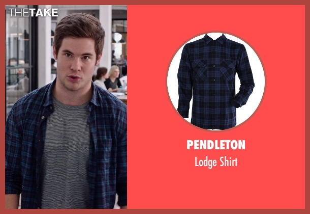 Pendleton blue shirt from The Intern seen with Adam DeVine (Jason)