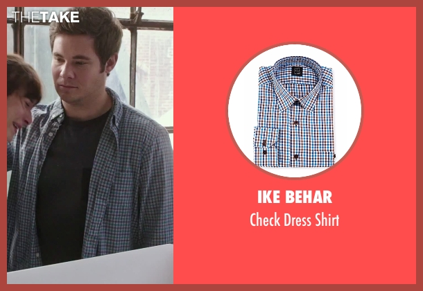 Ike Behar blue shirt from The Intern seen with Adam DeVine (Jason)