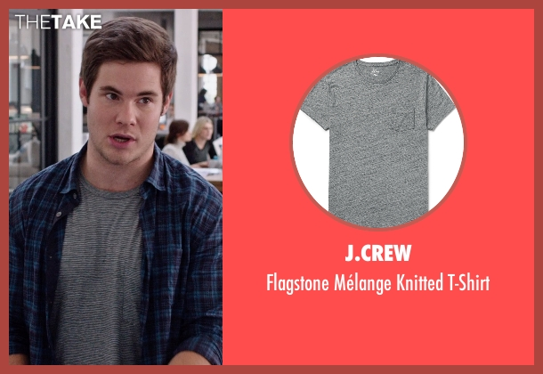 J.Crew gray t-shirt from The Intern seen with Adam DeVine (Jason)