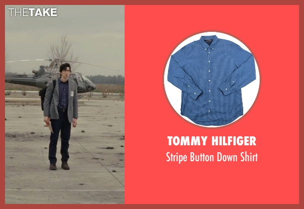 Tommy Hilfiger blue shirt from Midnight Special seen with Adam Driver (Unknown Character)