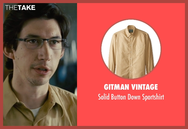 Gitman Vintage yellow sportshirt from Midnight Special seen with Adam Driver (Unknown Character)