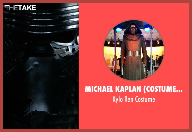 Michael Kaplan (Costume Designer) costume from Star Wars: The Force Awakens seen with Adam Driver (Kylo Ren)